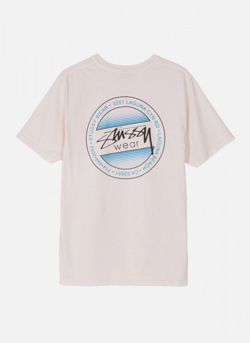 Stussy Womens Dot Fade Pig Dyed Tee Blush 2902972 / 1232