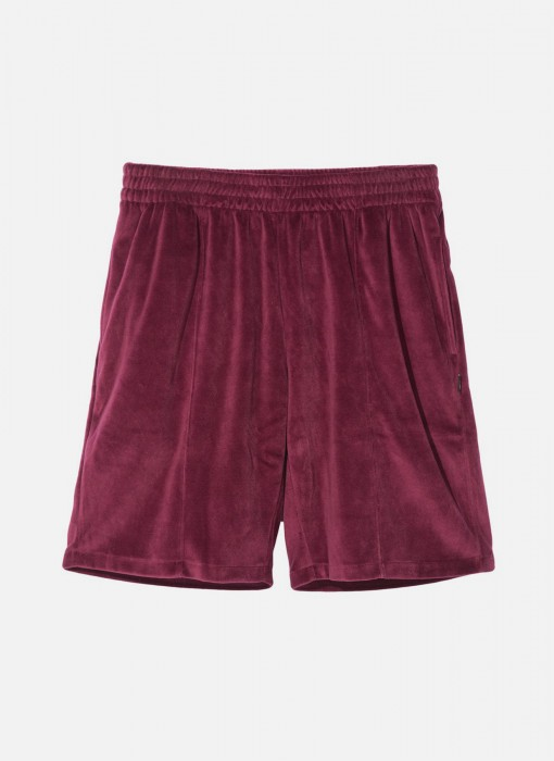 Stussy Velour Short Burgundy 112218 / 0615
