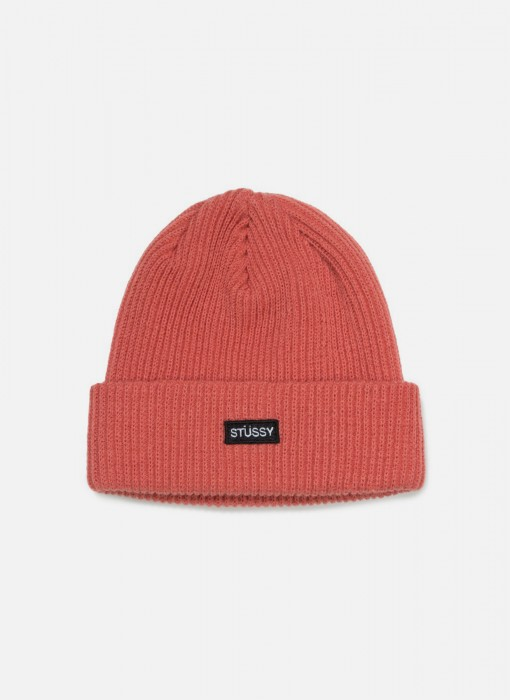 Stussy Small Patch Watch Cap Beanie Rose 132904 / 0624