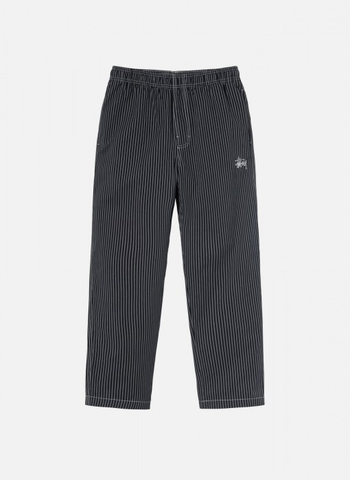 Brushed Cotton Relaxed Pant (Stripe)