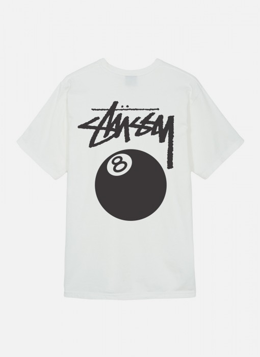 Stussy 8 Ball Pig Dyed Tee Natural 1904276 / 1002