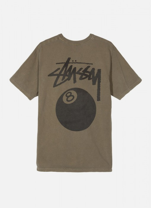 Stussy 8 Ball Pig Dyed Tee Army 1904276 0483