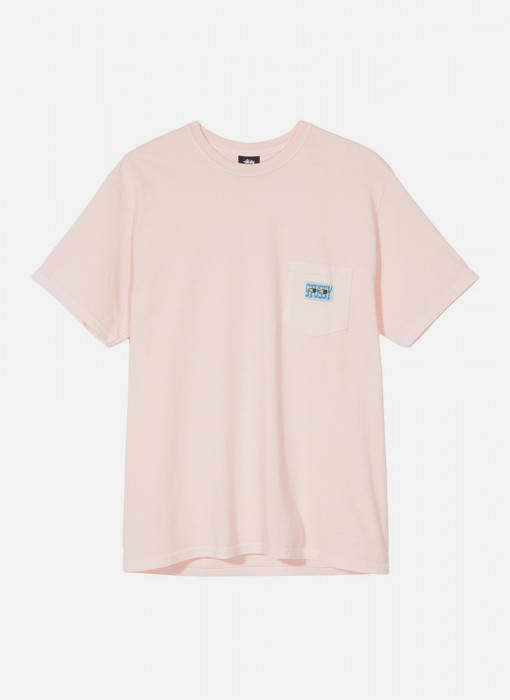 Stussy Red Eyes Pig Dyed Pkt Tee Blush 1944282 / 1232