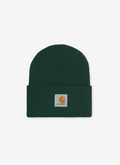 Acrylic Watch Hat Beanie (Bottle Green)