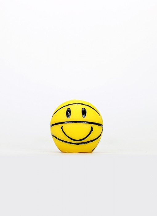 Smiley Mini Basketball Candle (gelb)