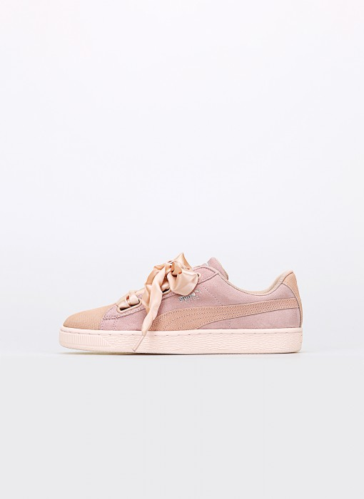 Wmns Suede Heart Pebble