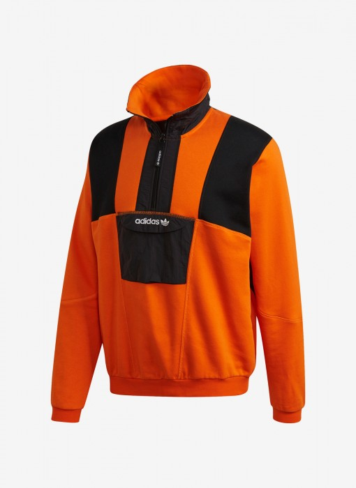 Adventure Field Half-Zip Sweatshirt (Orange)