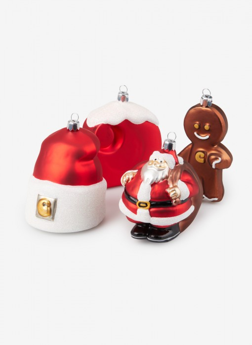 Christmas Ornaments Set (rot / weiß)