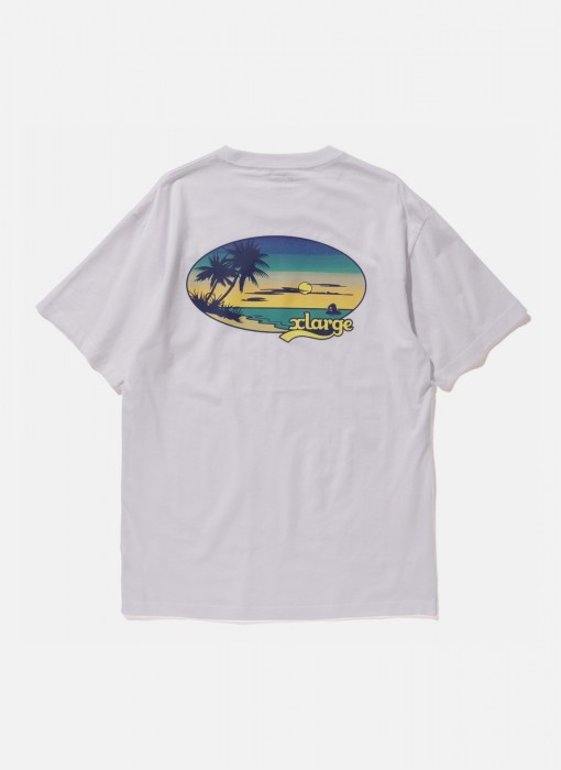 X-Large Sunset S S Tee White M18Z1112 1201