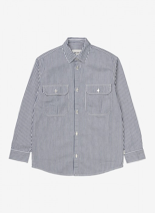 Women's L/S Great Master Shirt (Blau / Weiß)