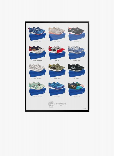 Gel Lyte III 25th Anniversary Collection Poster