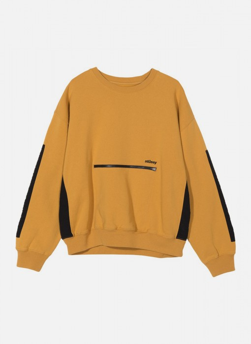 Stussy Women's Simone Pocket Fleece Crew Gold 218072 / 0205