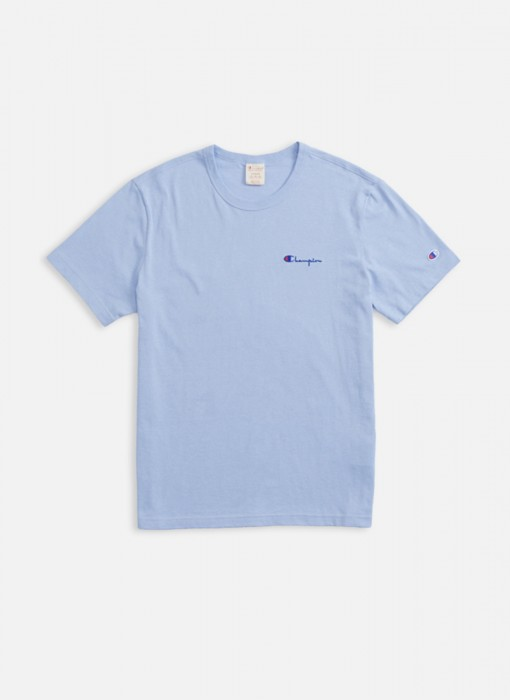 7981dc1214cf Champion Small Script Logo Tee Light Blue 211985 VS030