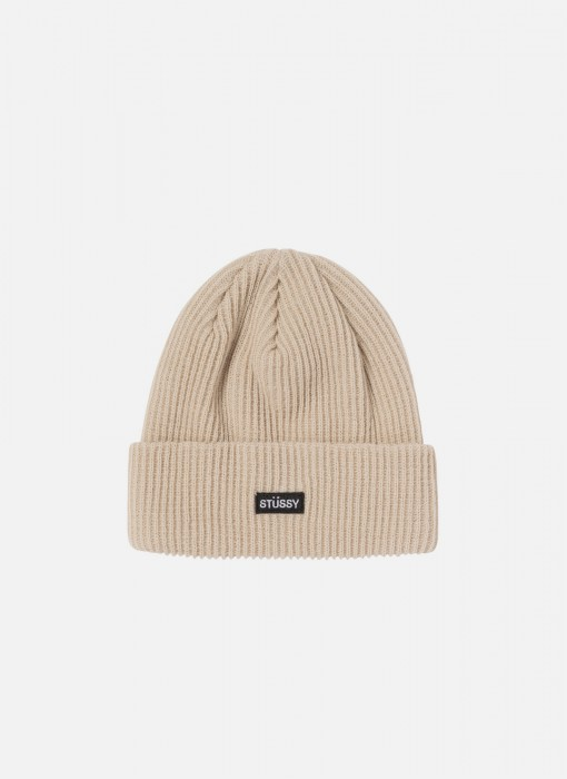 Small Patch Watchcap Beanie (Sand)