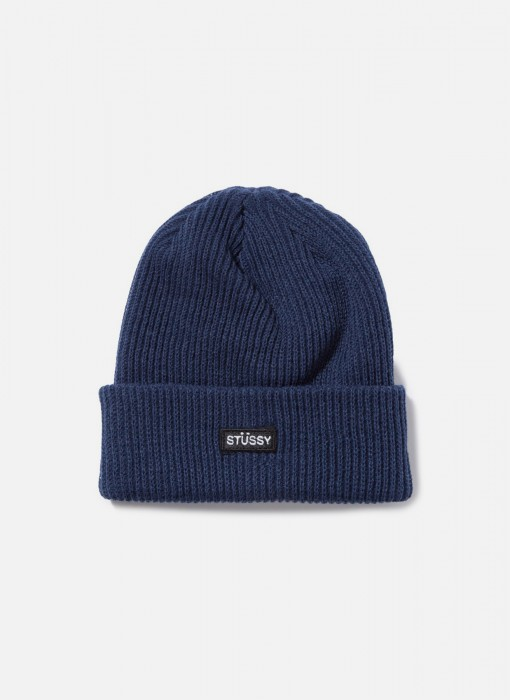 Stussy Small Patch Watchcap Beanie Navy 132895 / 0806