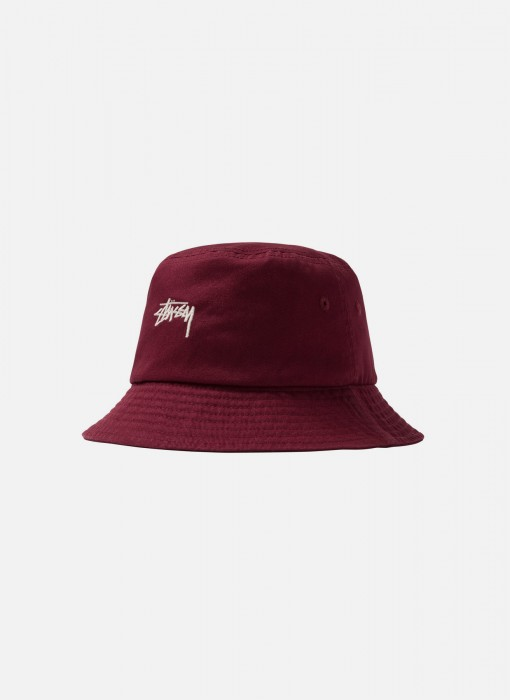 Stock Bucket Hat (Burgundy)