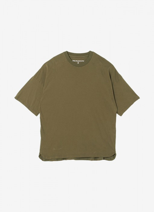Dropped Shoulder Half Sleeves T-Shirt (oliv)