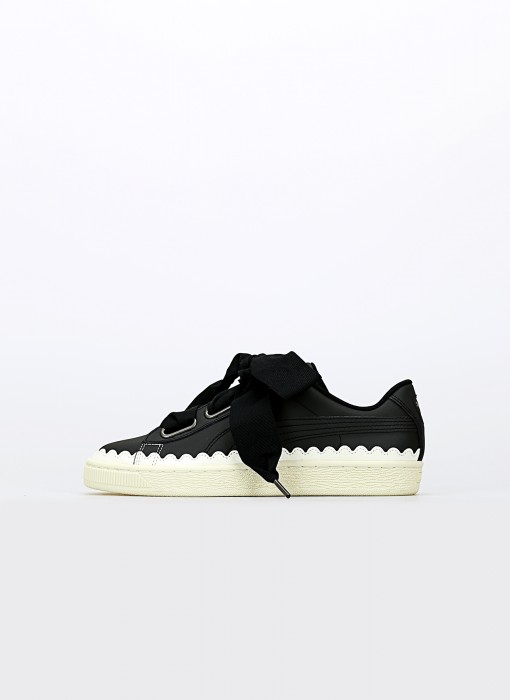Puma Basket Heart Scallop Wn's Puma Black Puma Black 366979-03