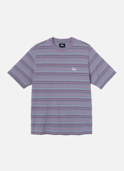 Heather Stripe Crew