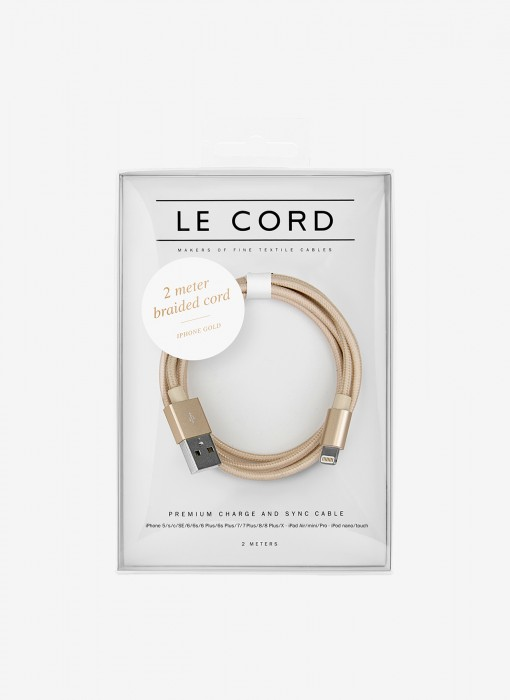 Le Cord Solid Gold Cable 2m 1122