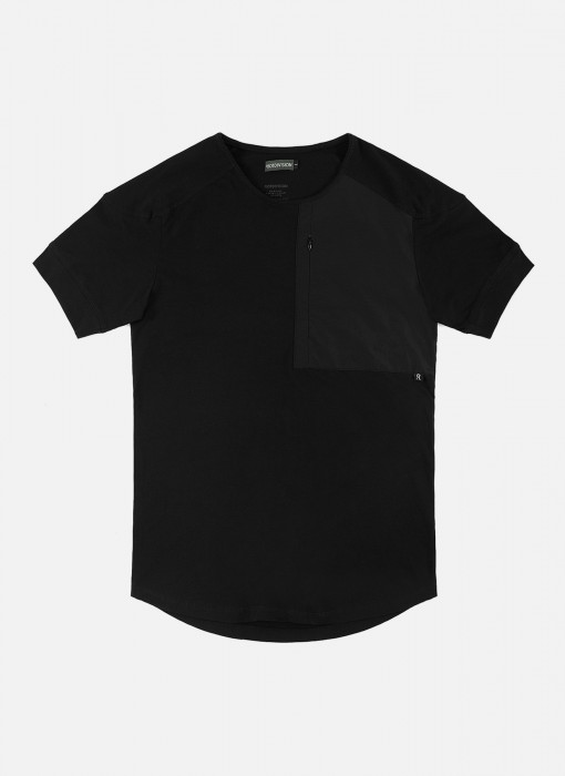 Riot Division Nylon Pocket T-Shirt Black RD-NPTS