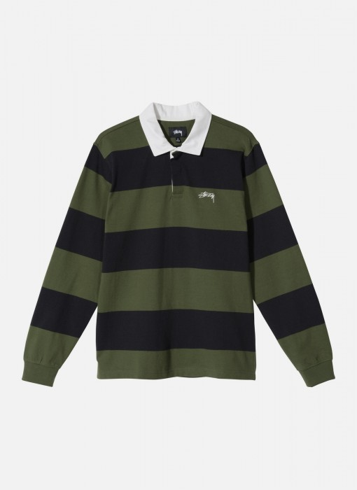 Stussy Classic Stripe LS Rugby Black 1140184 0001