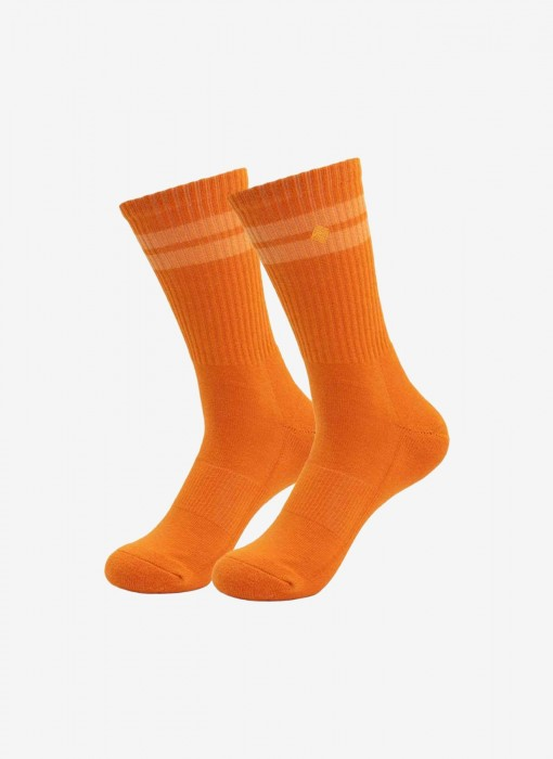True Orange Juice Crew Socks