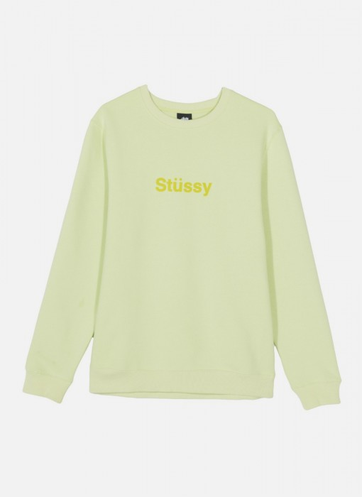 Stussy Weld Applique Crew Pale Green 118305 0453