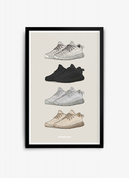 Yeezy Boost 350 Selection Poster