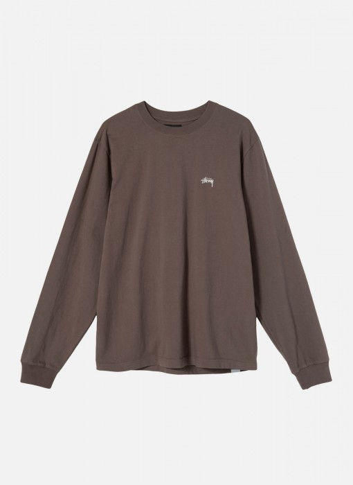 Stock Logo LS Crew (Brown)
