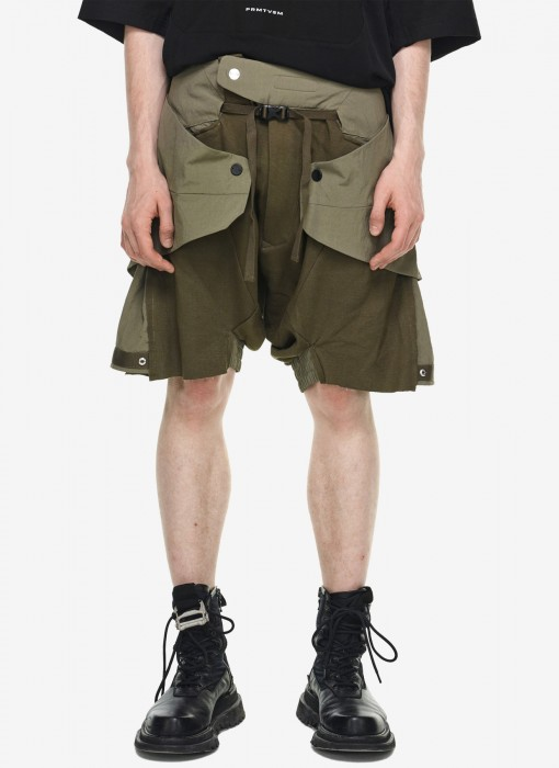 Reinforced Manta Panel Layered Shorts