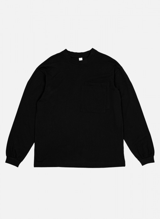 Longsleeve Double Pocket Black