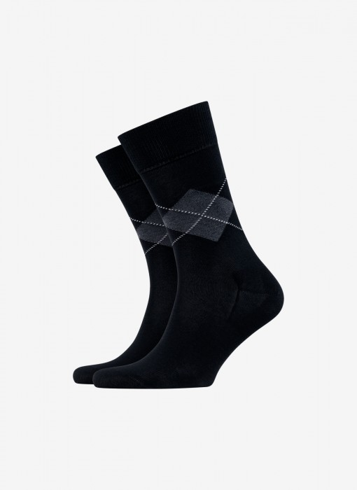 Black Argyle Socks