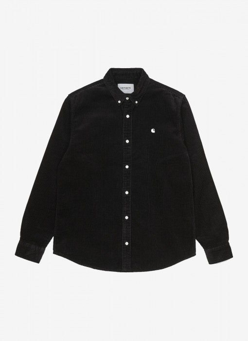 L/S Madison Cord Shirt (Black)
