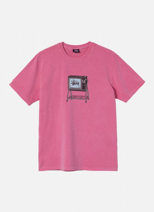 Rolling TV Pig. Dyed Tee (Pink)