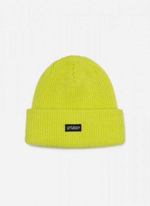 Stussy Small Patch Watch Cap Beanie Neon Yellow 132904 / 0300