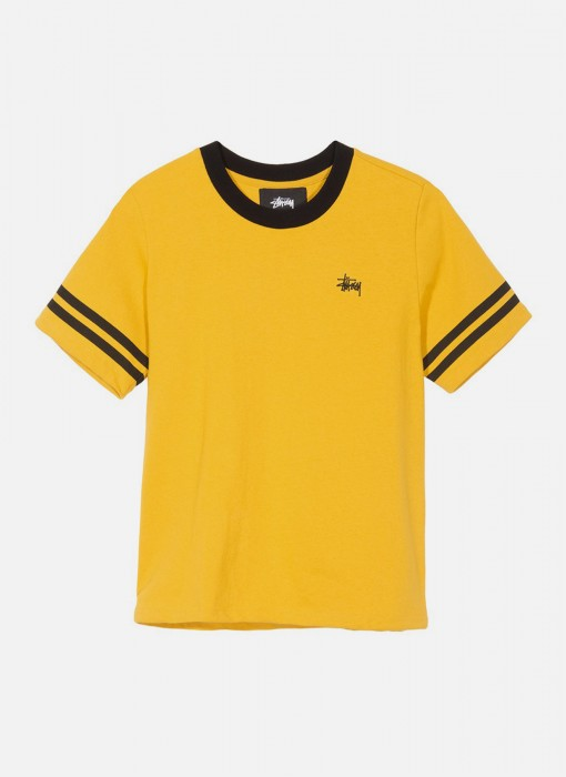 Stussy Womens Ava Athletic Tee Gold 214452 0205