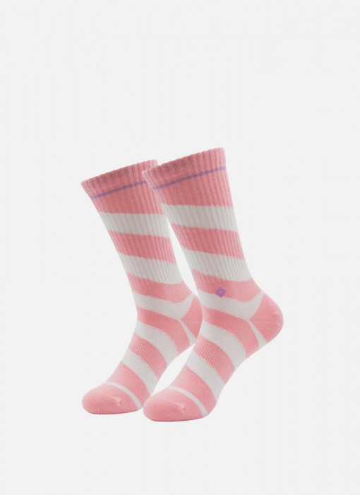 Arrow Candy Pink Crew Socks